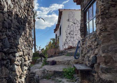 La Gomera - Künstlerdorf El Guro: Eine der vielen Treppen auf der Calle el Gurú