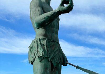 La Puntilla: Denkmal des Guanchen Kriegers Hautacuperche