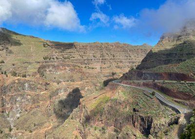 La Gomera Valle Gran Rey: Mirador de la Curva del Queso: Blick Richtung Arure