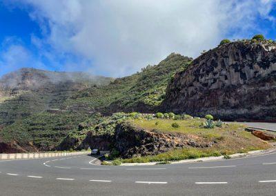 La Gomera Valle Gran Rey: Mirador de la Curva del Queso: Blick auf die Serpentinen
