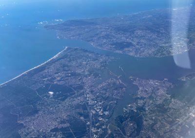 Lissabon vom Flugzeug aus