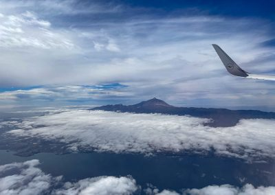 Teneriffa mit Teide vom Flugzeug aus
